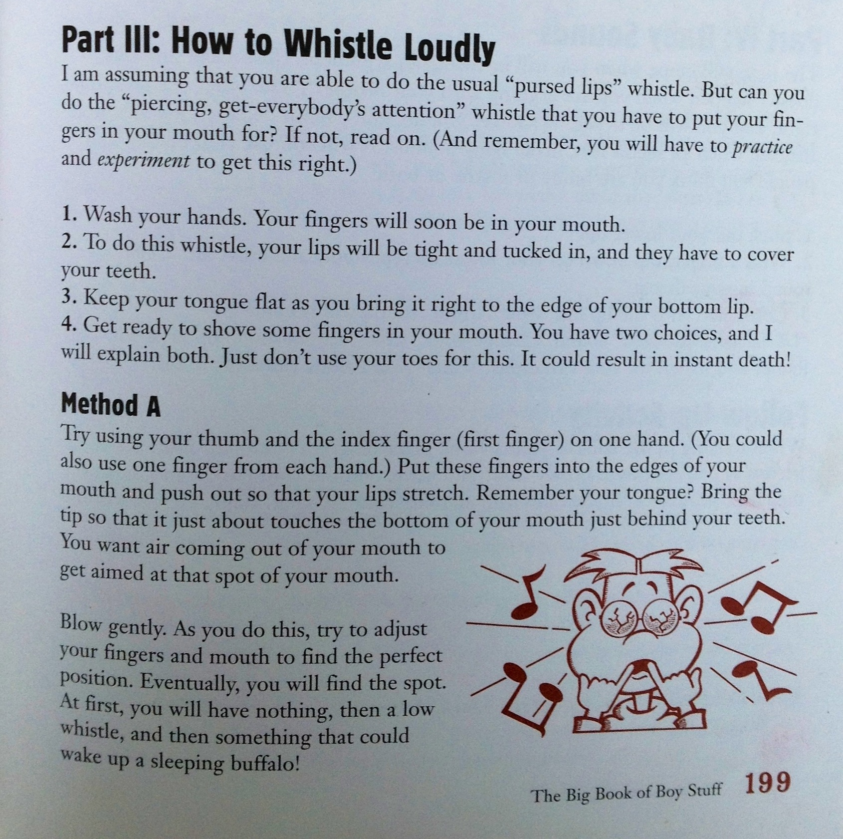 How to whistle loudly